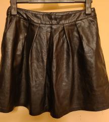 Kožna suknja sa džepovima L *prodaja/zamjena*