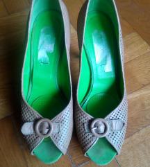 Marina Rinaldi kožne peep toe ljetne sandale