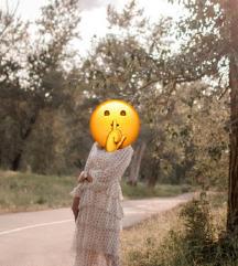 Bijela popularna bloger haljina s volanima