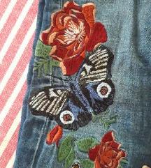 Zara traperice vezene cvijecem 🌺