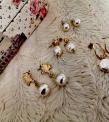 Lot naušnice sa perlama (bižuterija)