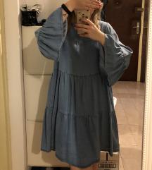 Zara denim plava haljina