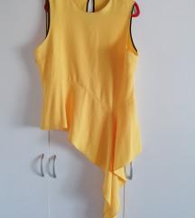 Zara asimetrični top, žuti, xxl