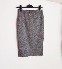 pencil midi suknja