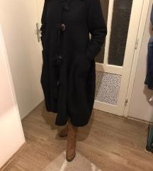 Crni kaput vuna/kašmir M/L/XL
