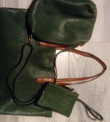 Tamnozelena torba