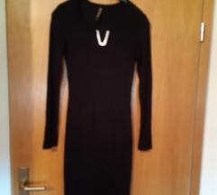 Nova crna pletena haljina