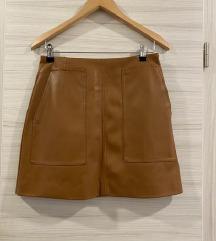 Kožna suknja H&M