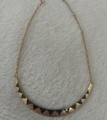 Crno zlatna ogrlica