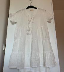 [NOVO] Bijela lepršava ljetna haljina/tunika