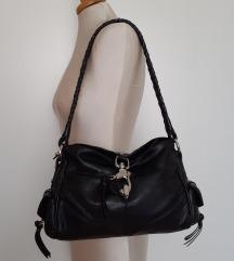 Francesco Biasia crna kožna torba