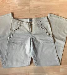 Udobne bež široke hlače