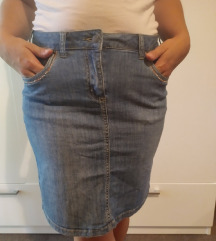 Jeans traper suknja
