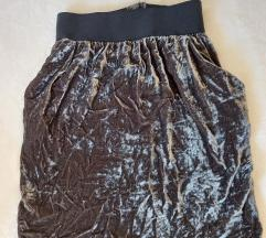 X nation baršunasta suknja