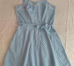 Haljina vintage sa točkama za  vel M m, l