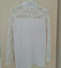Bijela čipkana majica