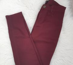 NOVO!!! Bordo uske hlače (high waist, push up)