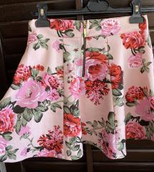 Pink ljetna suknja vel. S - M