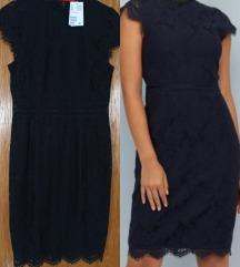 Nova H&M crna haljina s cipkom