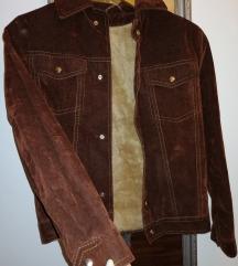 Brušena FUTRANA  kožna jakna