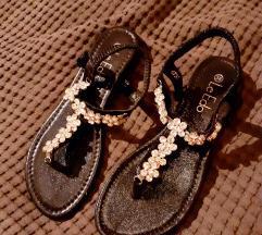 Sandale s cirkonima Mass