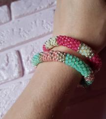 narukvice od perlica, pastelne