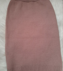 Baby pink pletena suknja