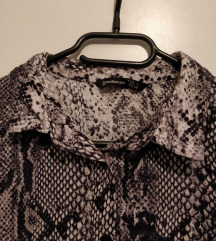Zmijska koža print košulja-haljina