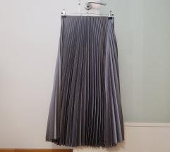 Zara siva plisirana suknja