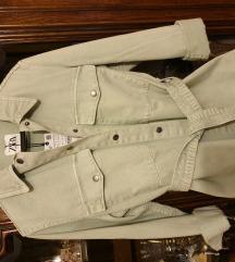 Zara nova mint traper jakna/kosulja S/XS