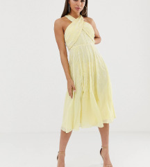 Večernja svijetlo - žuta haljina - br. 36!