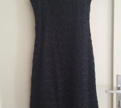 Sjajna crna haljina