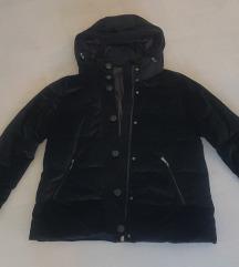 Nova crna baršunasta jakna