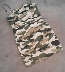 Pamučna ljetna military style haljinica H&M
