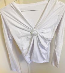 basic bijela uska majica small