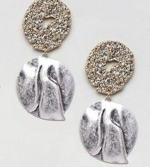 Mango gold silver naušnice