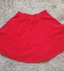 Crvena skater suknja