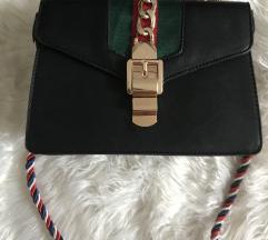 Gucci torba crna prava koža NOVO