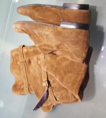 Kožne čizme iznad koljena br.37