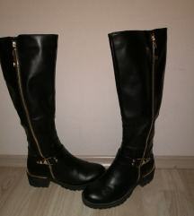 Crne visoke cizme 37