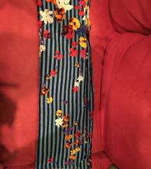 Nova Zara marama plava šarena prugice floral print