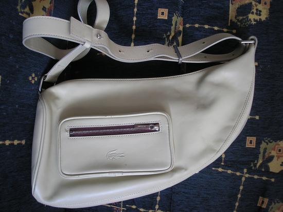 Lacoste Original prava koža torba