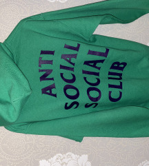 anti social social club zelena hoodie