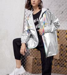 snizeno  Metalik srebrna jakna