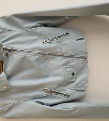 Plava kozna jakna