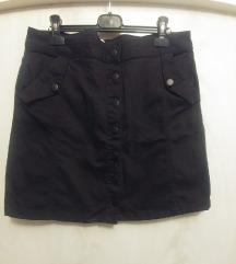Kratka crna suknja UK 14