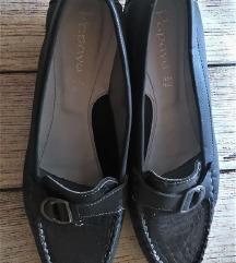 NOVE talijanske ženske cipele, prava koža,sive