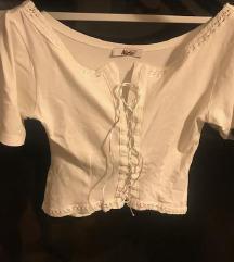 korzet top bijela uska majica 36