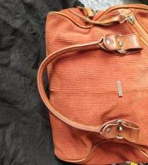 Galko kožna narančasta torba