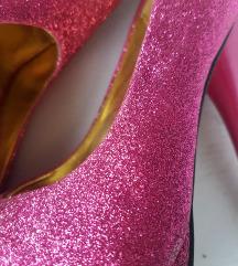 Roze šljokaste štikle